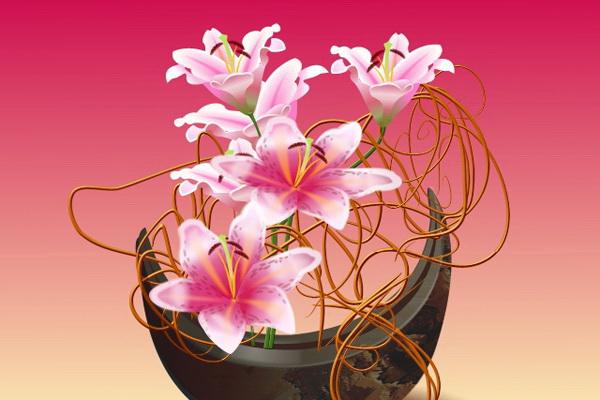 Принципы создания цветочной икебаны